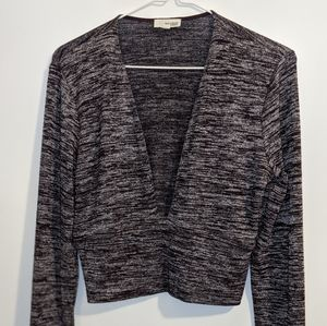 Wilfred Free Crop Top - Purple and Grey